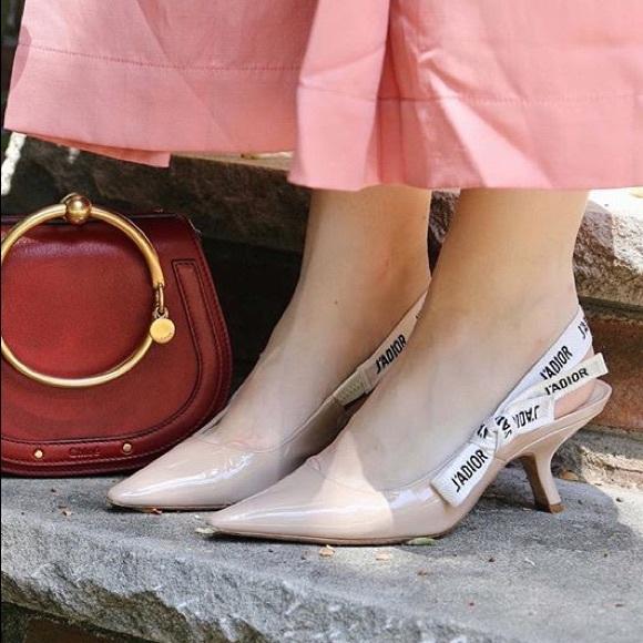 0b16de41c Dior Shoes | Ja Nude Slingback Heels | Poshmark